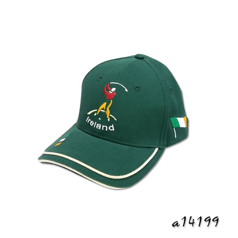 Golf Cap with sandwich and layer pipings on the visor
