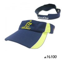 Sun Visor hat with flat embroidery and two tone layer panel
