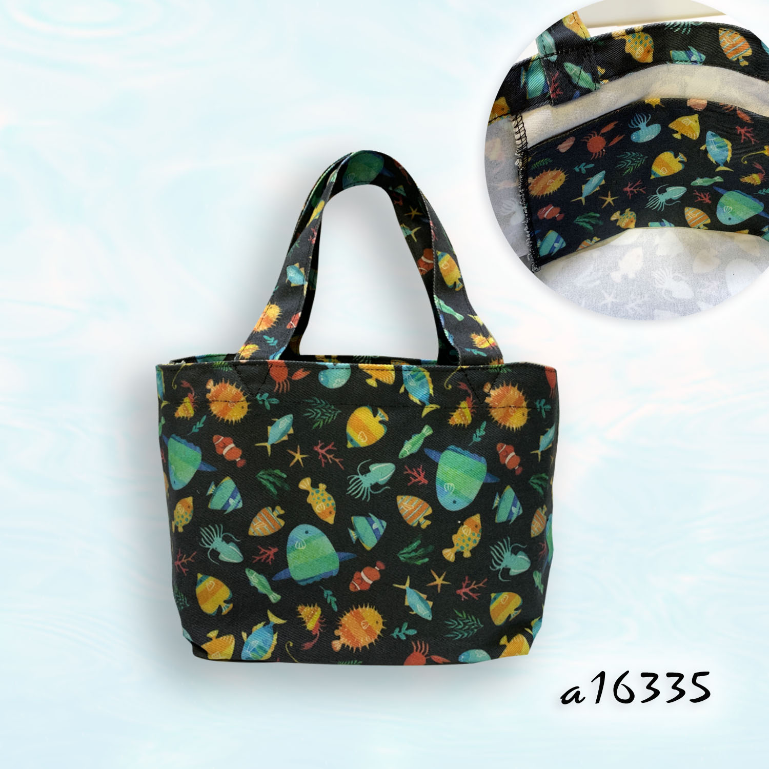 Cotton Ocean Patterns Petit Tote