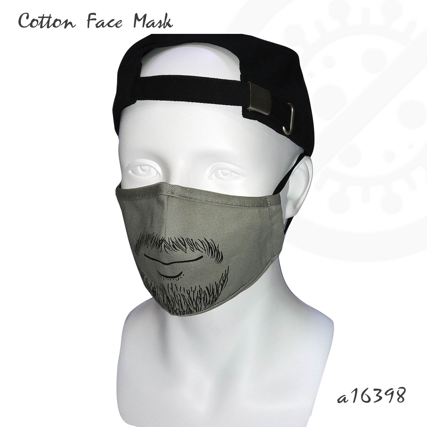 Mustache Printed Cloth Face Mask