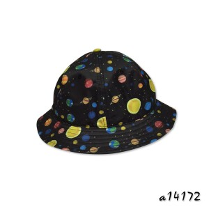 Bucket hat in allover galaxy digital print a14172
