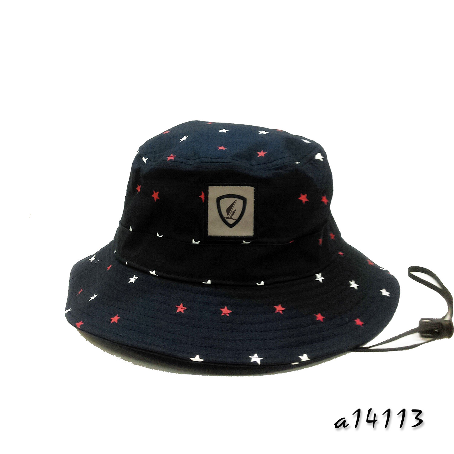 Bucket hat with allover starry print patterns a14113