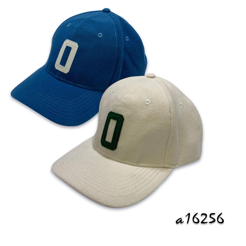 Woolen wide brim baseball cap