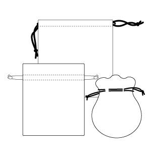 style for drawstring pouch