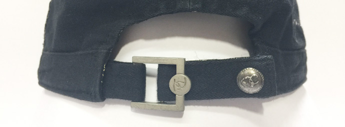metal buckle with customized metal button closure