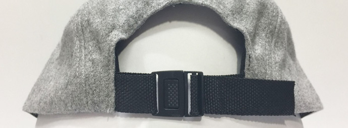 plastic clip buckle with webbing tape closure