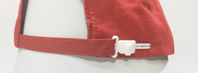 zipper buckle with fabric strap closure