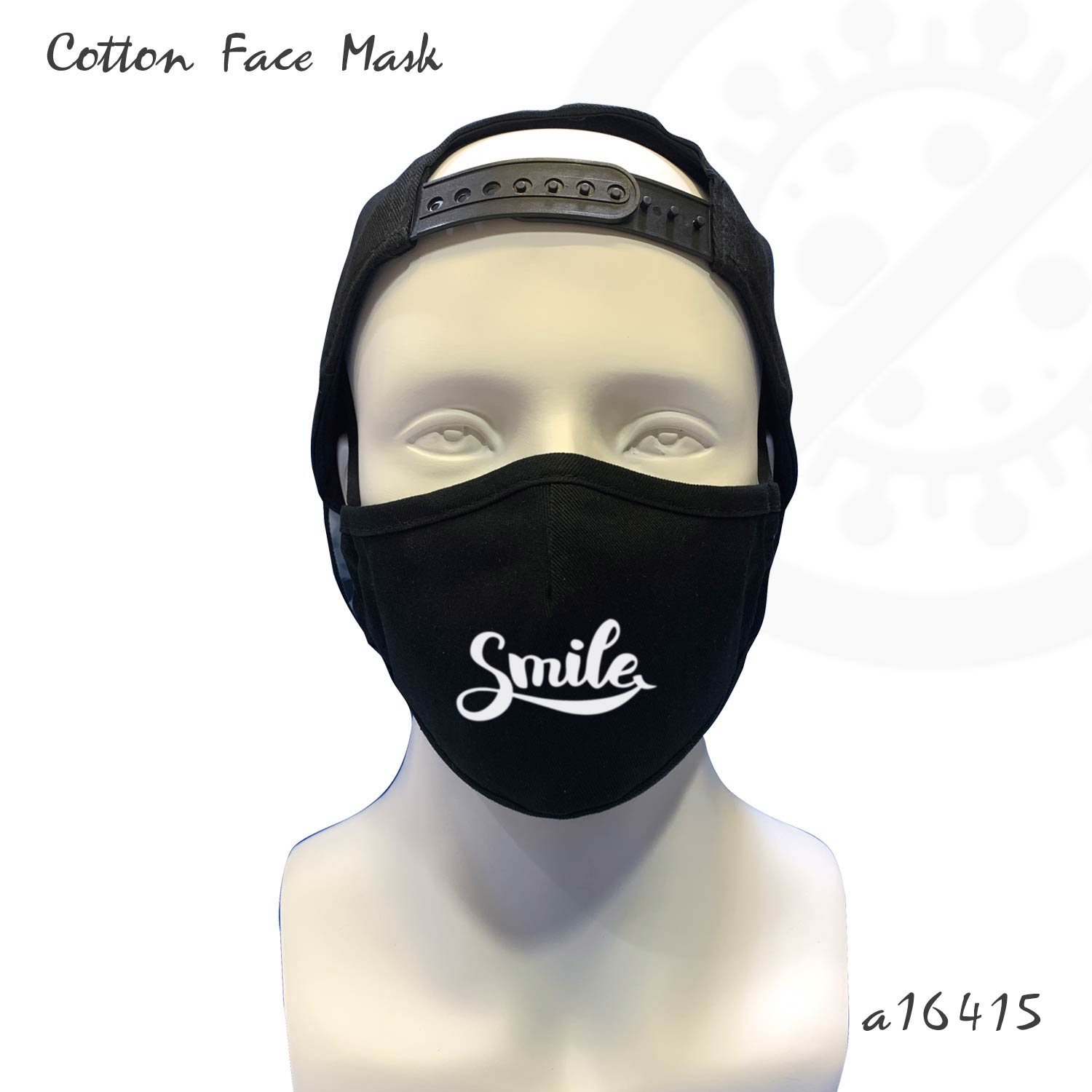 Cotton Face Covering with smiling print