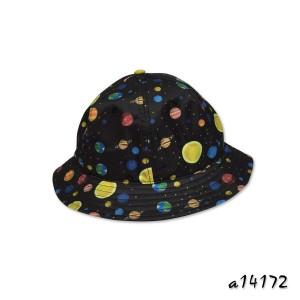 Bucket hat in allover galaxy digital print a14172