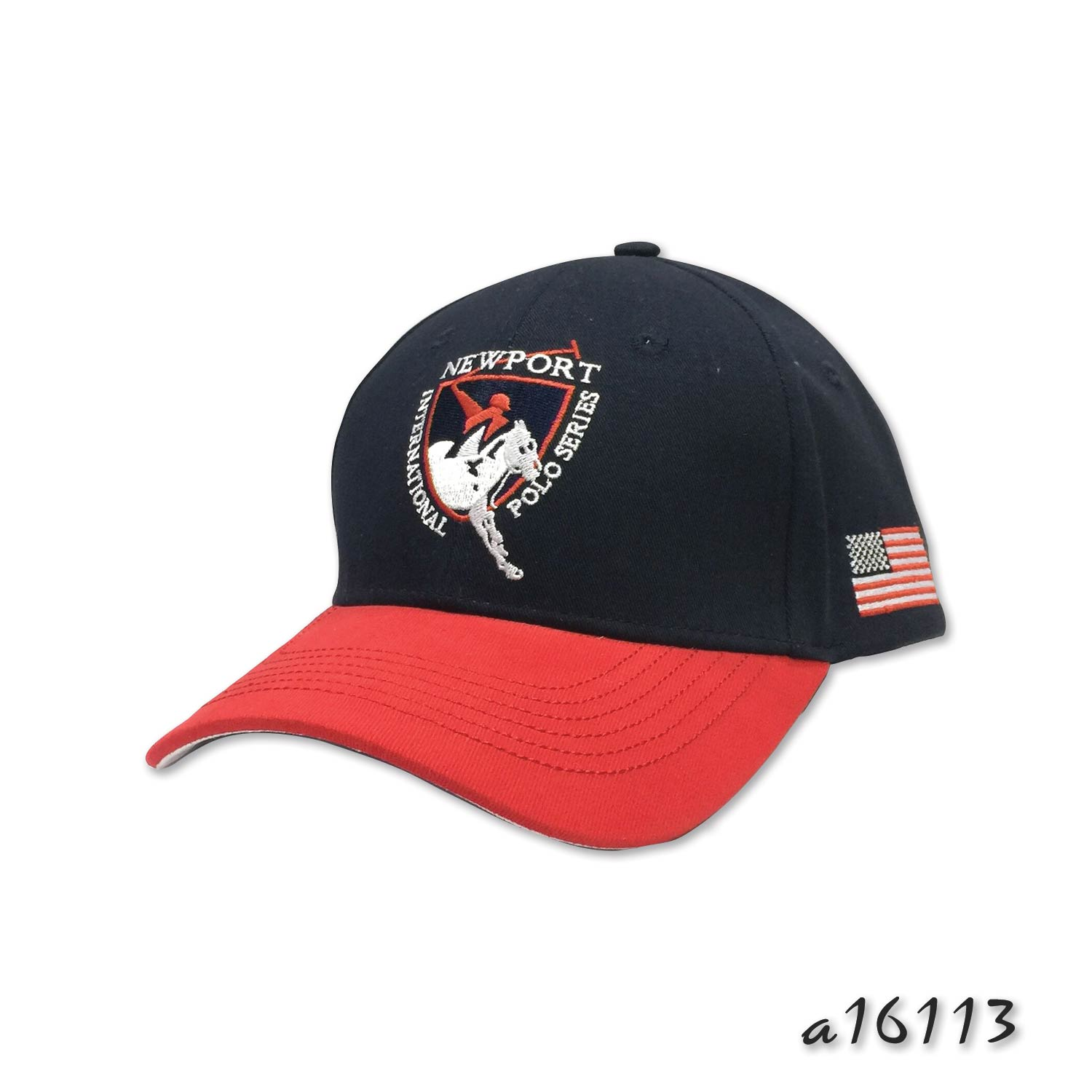 Two tone cap with fancy stitching and embroidery detail